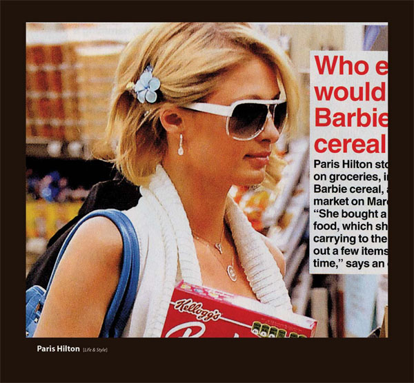 Paris Hilton in Sama Sunglasses