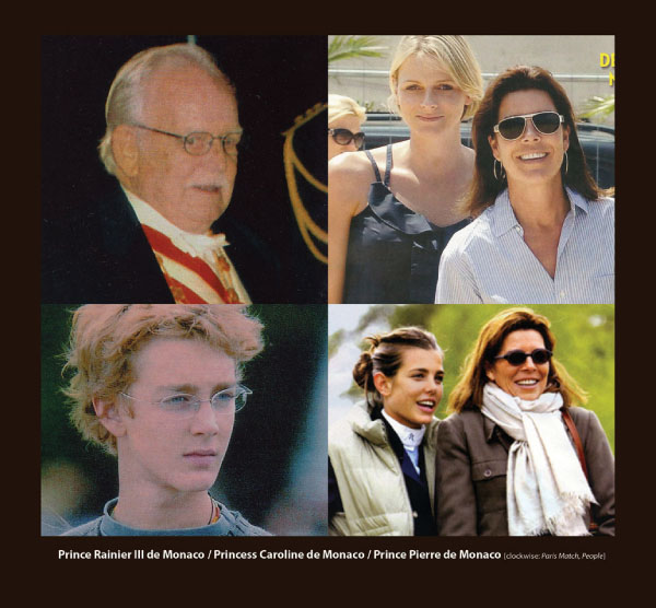 Prince Ranier, Princess Caroline and Prince Pierre in Sama Eyewear