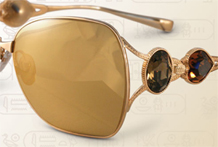 Sama Eyewear Gold Plated Lenses