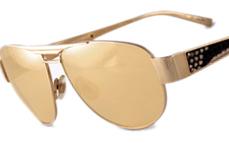 Boa Gold Aviator Sunglasses by Sama