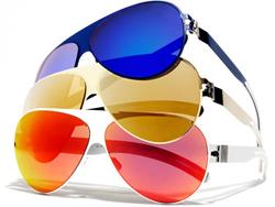 Sex in the City 2 Gold Sunglasses by Bernhard Willhelm Mykita   Sunglasses