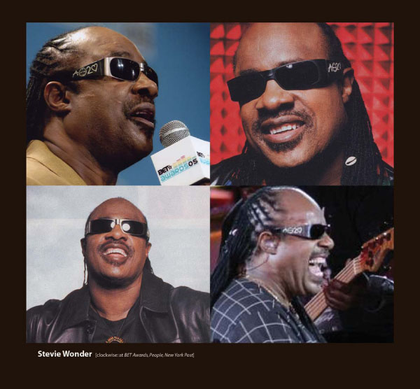 Stevie Wonder in Sunglasses by Sama