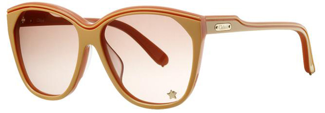 Chloe Tilia Oversized Acetate Sunglasses in Pink