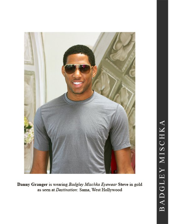 Danny Granger Sunglasses: NBA Forward Danny Granger in Badgley Mischka