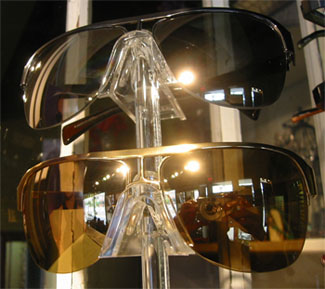 Badgley Mischka Steve Sunglasses in Platinum or Gold with 24K Gold Lenses or 18K White Gold
