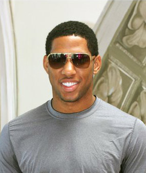 Danny Granger in Badgley Mischka Steve Sunglasses