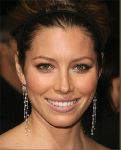 Jessica Biel in Loree Rodkin Earrings