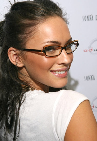 37877278608 Who Makes Megan Fox s Eyeglasses  They Are Lafont Karima!