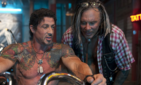 Mickey Rourke in The Expendables Wearing Sama D.C. Eyeglasses