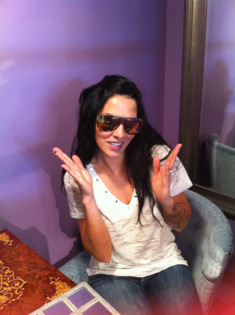 Jamie Henderson in Her New Badgley Mischka Special Edition Sunglasses