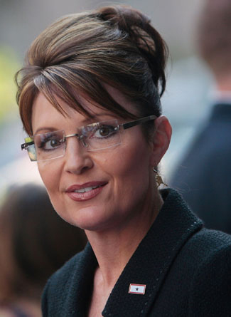 Sarah Palin in Rimless Eyeglasses by Kawasaki