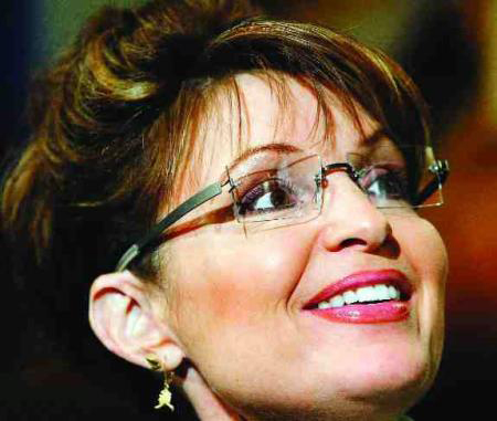 Close Up of Sarah Palin in her Kawasaki 704 Series