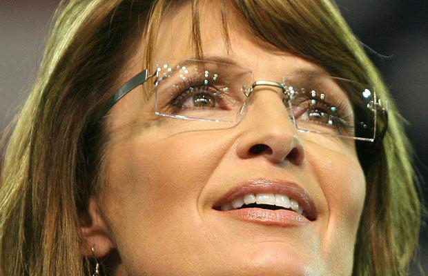 Sarah Palin in Glasses on Campaign Trail in 2008